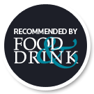 Recommended by food drink logo